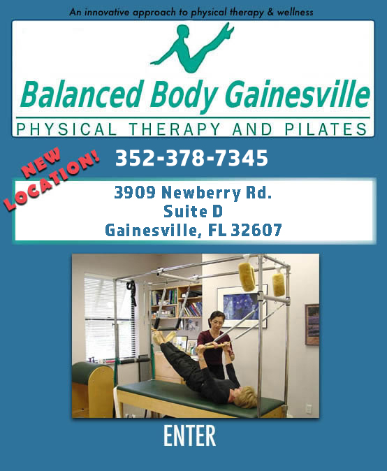 Balanced Body Gainesville - Gainesville, Florida - Physical Therapy, Pilates, Gyrotonics, Therapy, Spa, Water Therapy, Rehabilitation, and Gyrokinesis.